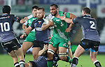 A bloodied Connacht number 8 George Naoupu charges through the Ospreys defence.<br /> Guiness Pro12<br /> Ospreys v Connacht<br /> Liberty Stadium<br /> 31.10.14<br /> &copy;Steve Pope-SPORTINGWALES