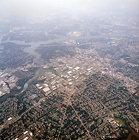 1998 September 05..Aerial..High altitude of census tracts around Elizabeth River in Portsmouth & Norfolk..Gene Woolridge.NEG# 11678 - 49.NRHA#..