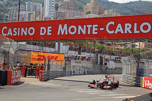 26.05.2012. Monaco, Monote Carlo Lewis Hamilton taking on the streets of Monaco, landing himself 3rd place on the grid after Schumacher takes a 5 place grid drop.