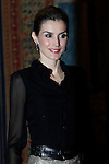 Queen Letizia of Spain attends to the oficial recepcion in honor of Chile's President Michelle Bachelet at El Pardo Palace in Madrid, Spain.October 30, {year 4}. (ALTER PHOTOS/Caro Marin)
