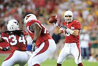 Aug. 28, 2009; Glendale, AZ, USA; Arizona Cardinals quarterback (13) Kurt Warner against the Green Bay Packers during a preseason game at University of Phoenix Stadium. Mandatory Credit: Mark J. Rebilas-