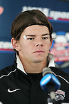 10 December 2005: Lance Watson. The University of New Mexico Lobos held a press conference the day before playing in the NCAA Men's College Cup, the Division I Championship soccer game, at SAS Stadium in Cary, NC..