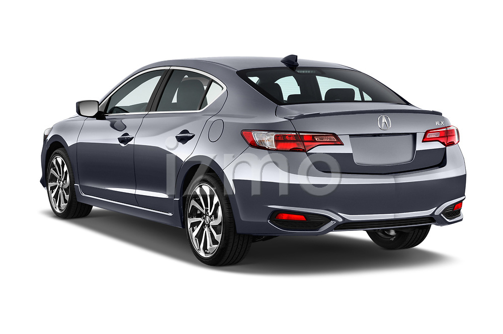 Car pictures of rear three quarter view of 2016-2017 Acura ilx Tech Plus and A Spec Package 4 Door Sedan angular rear