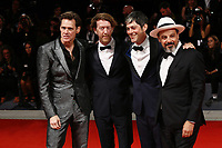 VENICE, ITALY - SEPTEMBER 05:  Jim Carrey, Chris Smith, Danny Gabai and Eddy Moretti attends 'Jim & Andy: The Great Beyond - The Story of Jim Carrey & Andy Kaufman Featuring a Very Special, Contractually Obligated Mention of Tony Clifton'' premiere during 74th Venice Film Festival at Palazzo Del Cinema on September 5, 2017 in Venice, Italy. (Mark Cape/insidefoto)