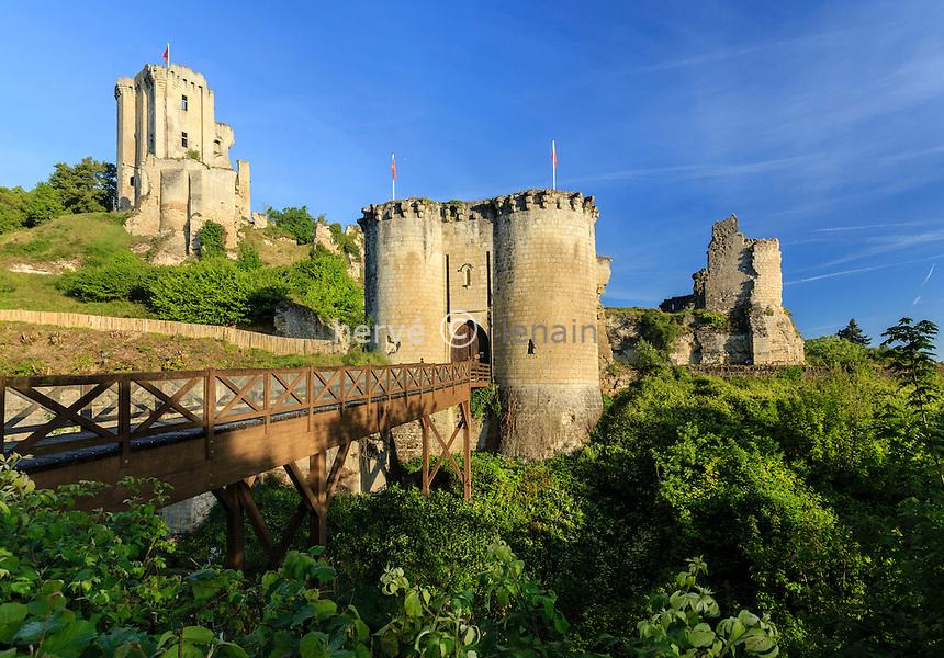 France, Loir-et-Cher (41), Lavardin, labellisé Les Plus Beaux Villages de France, le château // France, Loir et Cher, Lavardin, labelled Les Plus Beaux Villages de France (The Most beautiful Villages of France), the castle