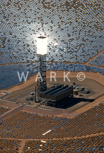 Ivanpah solar plant, eastern California. March 2014.