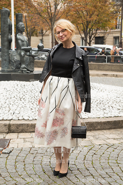 Evelina Khromtchenko attend Miu Miu Show Front Row - Paris Fashion Week  2016.<br /> October 7, 2015 Paris, France<br /> Picture: Kristina Afanasyeva / Featureflash