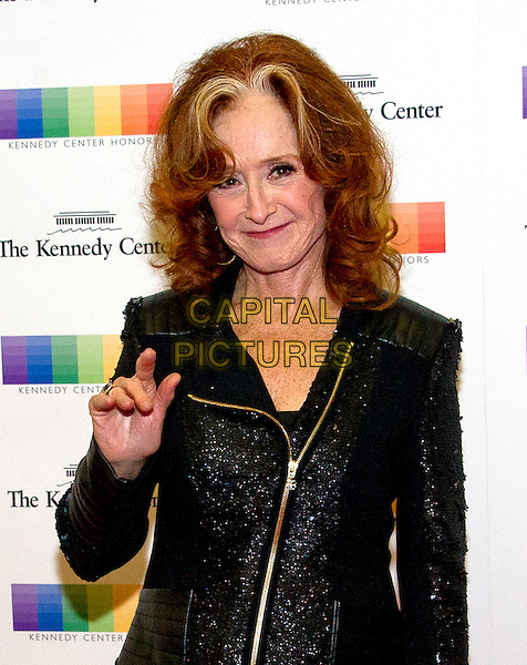Bonnie Raitt arrives for the formal Artist's Dinner honoring the recipients of the 39th Annual Kennedy Center Honors hosted by United States Secretary of State John F. Kerry at the U.S. Department of State in Washington, D.C. on Saturday, December 3, 2016. The 2016 honorees are: Argentine pianist Martha Argerich; rock band the Eagles; screen and stage actor Al Pacino; gospel and blues singer Mavis Staples; and musician James Taylor.<br /> CAP/MPI/RS<br /> &copy;RS/MPI/Capital Pictures