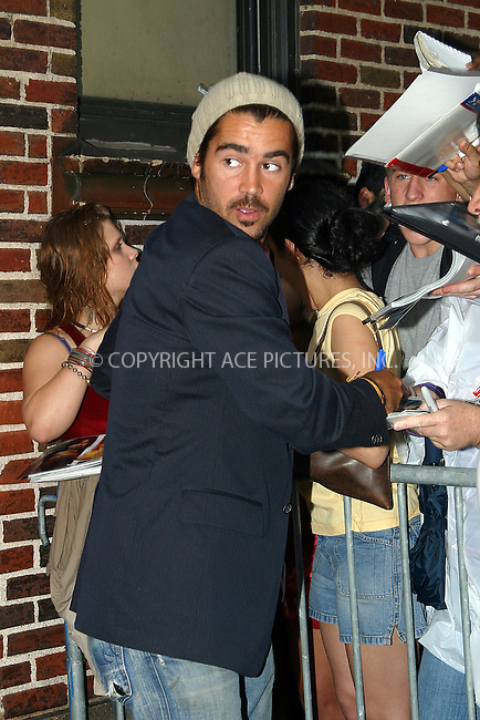 "Latest Hollywood sensation, Irish badboy Colin Farrel getting mobed by adoring fans as he appears on the ""Late Show With David Letterman"" to promote his latest action flick, 'S.W.A.T.' New York, August 5, 2003. Please byline: NY Photo Press.   ..*PAY-PER-USE*      ....NY Photo Press:  ..phone (646) 267-6913;   ..e-mail: info@nyphotopress.com"