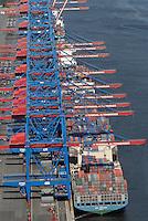 CTA Altenwerder: EUROPA, DEUTSCHLAND, HAMBURG, (EUROPE, GERMANY), 31.08.2008: Altenwerder, CTA, Container, Schiff, Kran, Ladung, Boom, Containerbruecken, containers, Containerschiff, Containerschiffe, Containerterminal, Containerumschlag, Containerverkehr,  Elbe, Europa, europaeisch, Europe, European, Frachter, German, Germany, Haefen, Hafen, Hafenansicht, Hafenansichten, Hafenszene, Hafenszenen, Hafenszenerie, Hafenszenerien, Hamburg, harbor, harbor sceneries, harbor scenery, harbors, harbour, harbour sceneries, harbour scenery, harbours, Haven, HHLA Container Terminal Altenwerder,  Kraene, Kran, Norddeutschland, North German,  ocean shipping, Schiffahrt, Schiffe, See, APL Poland,  Aufwind-Luftbilder, Luftbild, Luftaufname, Luftansicht.c o p y r i g h t : A U F W I N D - L U F T B I L D E R . de.G e r t r u d - B a e u m e r - S t i e g 1 0 2, .2 1 0 3 5 H a m b u r g , G e r m a n y.P h o n e + 4 9 (0) 1 7 1 - 6 8 6 6 0 6 9 .E m a i l H w e i 1 @ a o l . c o m.w w w . a u f w i n d - l u f t b i l d e r . d e.K o n t o : P o s t b a n k H a m b u r g .B l z : 2 0 0 1 0 0 2 0 .K o n t o : 5 8 3 6 5 7 2 0 9.C o p y r i g h t n u r f u e r j o u r n a l i s t i s c h Z w e c k e,  V e r o e f f e n t l i c h u n g  n u r  m i t  H o n o r a r  n a c h M F M, N a m e n s n e n n u n g  u n d B e l e g e x e m p l a r !.