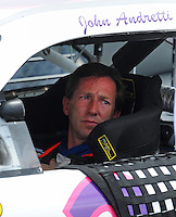 Apr 26, 2008; Talladega, AL, USA; NASCAR Sprint Cup Series driver John Andretti during qualifying for the Aarons 499 at Talladega Superspeedway. Mandatory Credit: Mark J. Rebilas-US PRESSWIRE