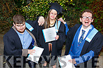 Seamus McCarthy (Ballylongford), Jessica Power (Abbeyfeale) and Eoin O'Sullivan from Tralee, who received their Certificates in Skills for Life- St John of Gods Services at the Graduation Ceremony from the I T Tralee in the Brandon Hotel on Friday.