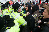 Unite Against Fascism hold a protest march in Luton against a demonstration by the racist English Defence League.