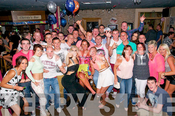 21st Birthday : Jamie Barry, Listowel celebrating his 21st birthday with family & friends at Christy's Bar, Listowel on Saturday night last.