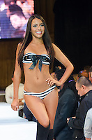 Miami Dolphins Cheerleader Grace walks runway at Miami Dolphins Cheerleaders Swimsuit 2014 Calendar Unveiling and Fashion Show at Fontainebleau's LIV nightclub, Miami Beach, FL, September 5, 2013