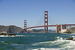 San Francisco: Baker Beach with Golden Gate Bridge in background.  Photo # 2-casanf83348.  Photo copyright Lee Foster