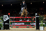 Pieter Devos of Belgium riding Equipharma Dax van 'Dabdijhoev in action during the Laiterie De Montaigu Trophy as part of the Longines Hong Kong Masters on 14 February 2015, at the Asia World Expo, outskirts Hong Kong, China. Photo by Victor Fraile / Power Sport Images