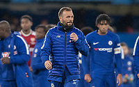 Jody Morris Coach of Chelsea U18 looks happy at full time during the FA Youth Cup FINAL 1st leg match between Chelsea U18 and Arsenal U18 at Stamford Bridge, London, England on 27 April 2018. Photo by Andy Rowland.