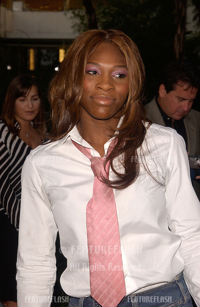 Tennis star SERENA WILLIAMS at the world premiere, in Hollywood, of The Bourne Supremacy..July 15, 2004