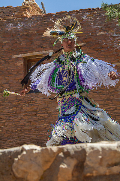 Navajo man dancing along the South Rim in Grand Canyon National Park, Arizona . John offers private photo tours in Grand Canyon National Park and throughout Arizona, Utah and Colorado. Year-round.