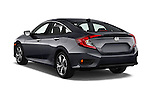 Car pictures of rear three quarter view of 2016 Honda Civic Touring CVT 4 Door Sedan Angular Rear