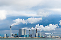 Powerplants in a large industrial harbor