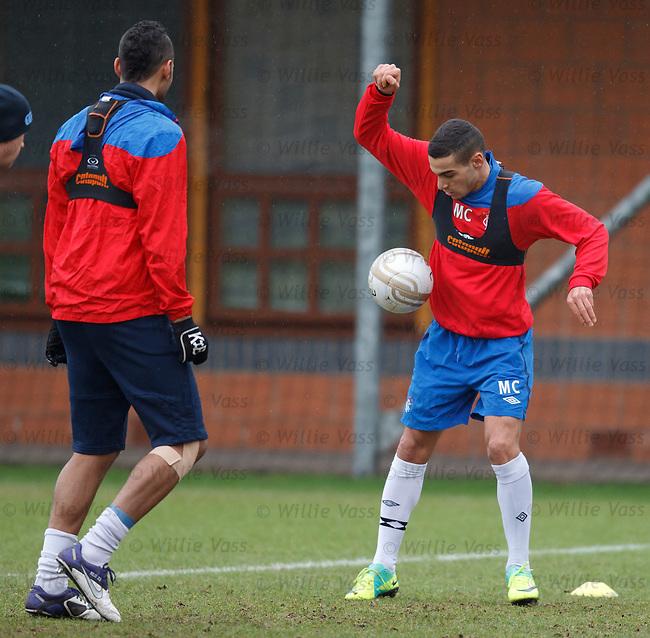 Mervan Celik at training