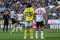 Bolton Wanderers' Josh Magennis takes a free kick<br /> <br /> Photographer Andrew Kearns/CameraSport<br /> <br /> The EFL Sky Bet Championship - Bolton Wanderers v Blackburn Rovers - Saturday 6th October 2018 - University of Bolton Stadium - Bolton<br /> <br /> World Copyright © 2018 CameraSport. All rights reserved. 43 Linden Ave. Countesthorpe. Leicester. England. LE8 5PG - Tel: +44 (0) 116 277 4147 - admin@camerasport.com - www.camerasport.com