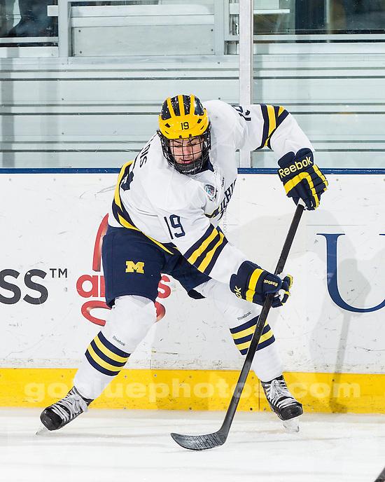 The University of Michigan ice hockey team lost to Western Michigan University, 4-1, at Yost Ice Arena in Ann Arbor, Mich., on December 14, 2012.