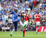 Ngolo Kante of Chelsea in action with Granit Xhaka of Arsenal  during the Emirates FA Cup Final match at Wembley Stadium, London. Picture date: May 27th, 2017.Picture credit should read: David Klein/Sportimage