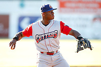 June 22, 2009:  Thrid Baseman Anthony Hewitt of the Williamsport Crosscutters during a game at Dwyer Stadium in Batavia, NY.  The Crosscutters are the NY-Penn League Short-Season Single-A affiliate of the Philadelphia Phillies.  Photo by:  Mike Janes/Four Seam Images