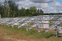 Row of Solar Panel Frames