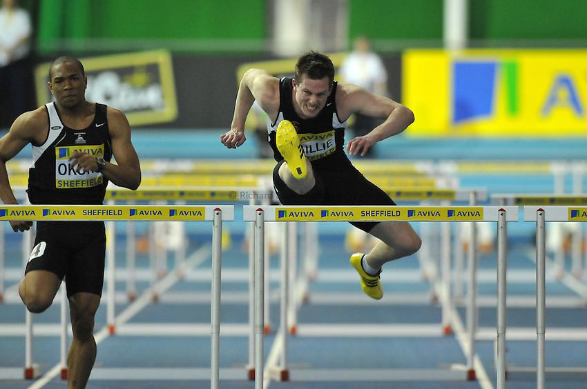 Photo: Tony Oudot/Richard Lane Photography. Aviva World Trials & UK Championships. 13/02/2010. .Mens 60m Hurdles, .Chris Baillie.