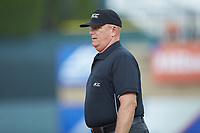First base umpire John Haggerty during the game between the Duke Blue Devils and the Florida State Seminoles in the first semifinal of the 2017 ACC Baseball Championship at Louisville Slugger Field on May 27, 2017 in Louisville, Kentucky. The Seminoles defeated the Blue Devils 5-1. (Brian Westerholt/Four Seam Images)