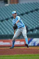North Carolina Tar Heels relief pitcher Taylor Sugg (25) in action against the Boston College Eagles in Game Five of the 2017 ACC Baseball Championship at Louisville Slugger Field on May 25, 2017 in Louisville, Kentucky. The Tar Heels defeated the Eagles 10-0 in a game called after 7 innings by the Mercy Rule. (Brian Westerholt/Four Seam Images)