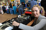 FREE PIC - NO REPRO FEE<br /> 24/09/2015 - Blackpool, Cork<br /> DJ Purple Princess (Niamh Geary) entertaining customers at the official opening of the new Dealz store at Blackpool Retail Park, Cork.<br /> Pic: Brian Lougheed