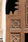 Detail of a door in the Ibn Yusuf Medrassa in Marrakesh, Morocco.