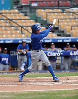Miguel Droz participates in the MLB International Showcase at Estadio Quisqeya on February 22-23, 2017 in Santo Domingo, Dominican Republic.