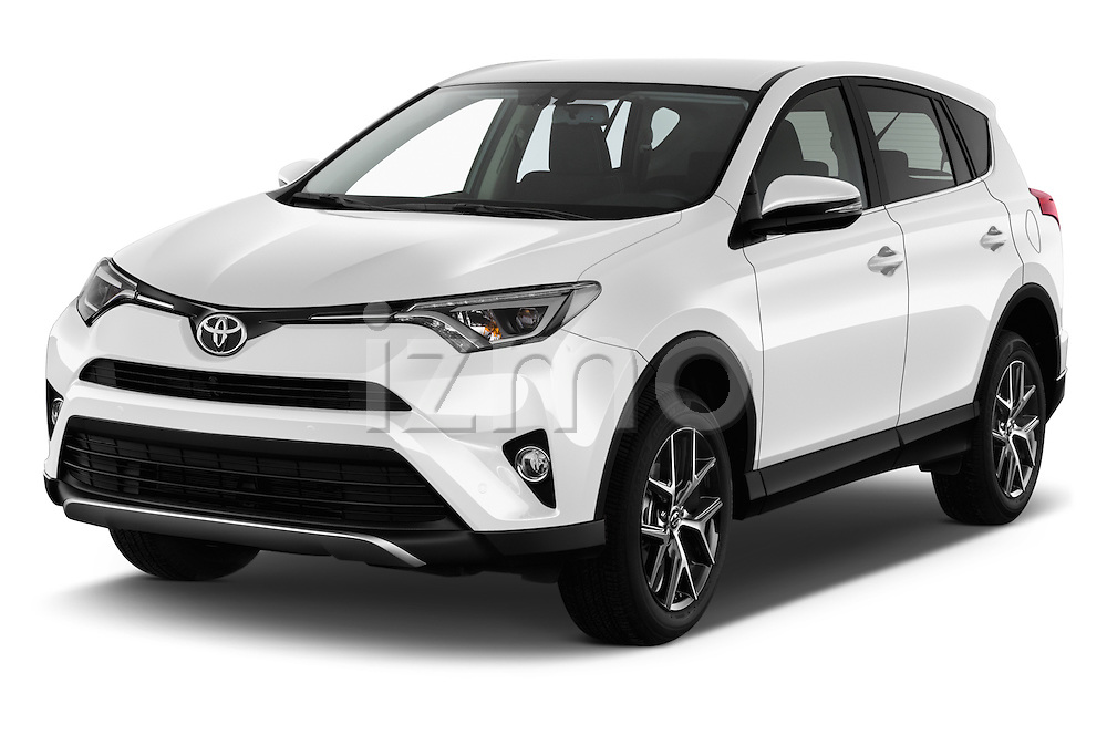 2016 Toyota RAV4 Style 5 Door SUV Angular Front stock photos of front three quarter view