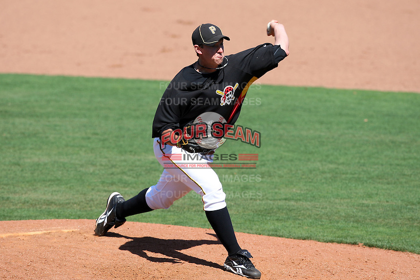 April 2, 2010:  Pitcher Mike Williams (61) of the Pittsburgh Pirates organization during Spring Training at Bright House Field in Clearwater, FL.  Photo By Mike Janes/Four Seam Images