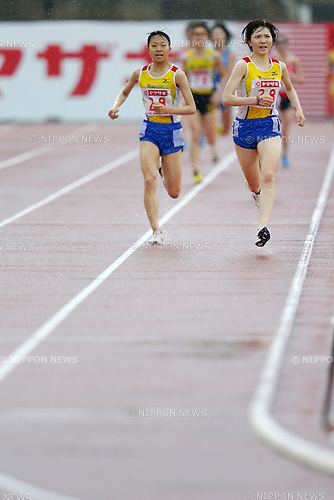 (L-R) Shiho Takechi, Kasumi Nishihara, June 6, 2014 - Athletics : The 98th Japan Athletics National Championships, Women's 10000m Final at Toho Minnano Stadium, Fukushima, Japan. (Photo by Yusuke Nakanishi/AFLO SPORT) [1090]
