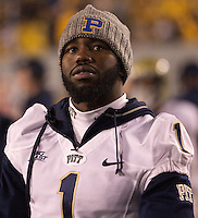 Injured Pitt running back Ray Graham. The WVU Mountaineers beat the Pitt Panthers 21-20 at Mountaineer Field in Morgantown, West Virginia on November 25, 2011.