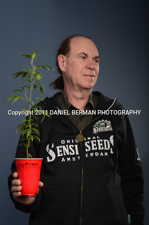 Marijuana growing expert Ed Rosenthal poses for a portrait in Seattle Monday, August 22nd. Ed Rosenthal is a marijuana decriminalization activist world-renowned for his columns for High Times and numerous books on cannabis growing. Photo by Daniel Berman