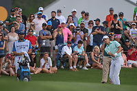 Jordan Spieth (USA) chips on to 18 during round 4 of the Houston Open, Golf Club of Houston, Houston, Texas. 4/1/2018.<br /> Picture: Golffile | Ken Murray<br /> <br /> <br /> All photo usage must carry mandatory copyright credit (&copy; Golffile | Ken Murray)