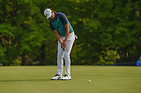 Tony Finau (USA) watches his putt on 5 during 4th round of the 100th PGA Championship at Bellerive Country Club, St. Louis, Missouri. 8/12/2018.<br /> Picture: Golffile   Ken Murray<br /> <br /> All photo usage must carry mandatory copyright credit (© Golffile   Ken Murray)