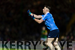 Kerry in action against Philly McMahon Dublin in the National League in Austin Stack park on Saturday night.