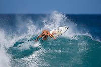 CLAIRE BEVILACQUA (AUS) surfing at Off The Wall-Backdoor, North Shore of Oahu, Hawaii. Photo: joliphotos.com