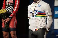 gold medal &amp; rainbow jersey for Leo Appelt (DEU)<br /> <br /> Junior Men TT<br /> UCI Road World Championships / Richmond 2015