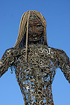 Abstract female made of scrap metal (3)