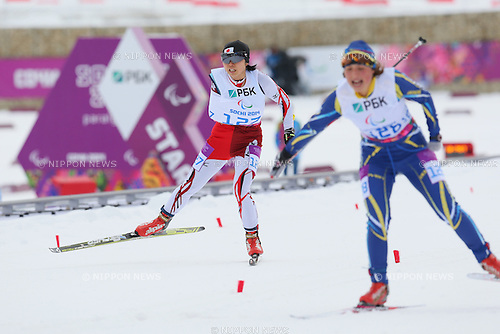 Momoko Dekijima (JPN),<br /> MARCH 14, 2014 - Biathlon : <br /> Women's 12.5km Standing<br /> at &quot;LAURA&quot; Cross-Country Ski &amp; Biathlon Center <br /> during the Sochi 2014 Paralympic Winter Games in Sochi, Russia. <br /> (Photo by Yohei Osada/AFLO SPORT) [1156]